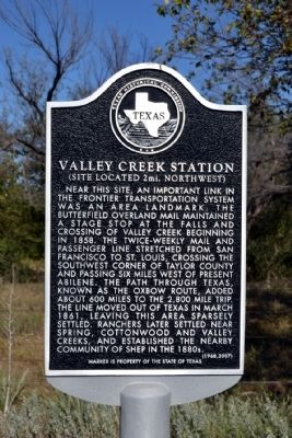 Valley Creek Station Marker image. Click for full size.