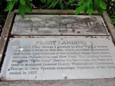 "Ferry Landing Marker (<i>""Wells Ferry""</i>) image. Click for full size."