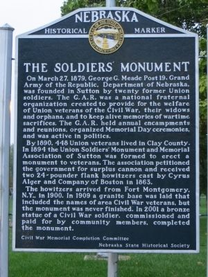 The Soldier's Monument Marker image. Click for full size.
