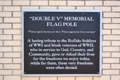 """Double V"" Memorial Flagpole Marker image. Click for full size."