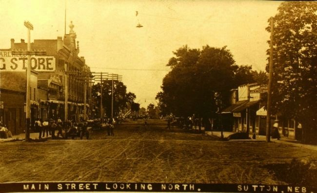 <i>Main Steet Looking North., Suttpn, Neb.</i> image. Click for full size.