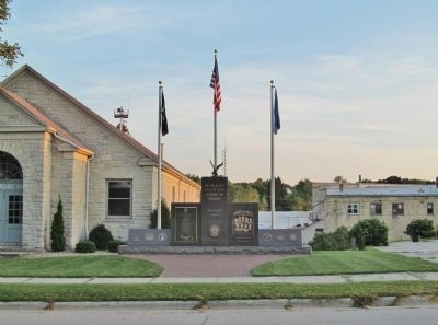 Casco Veterans Memorial image. Click for full size.