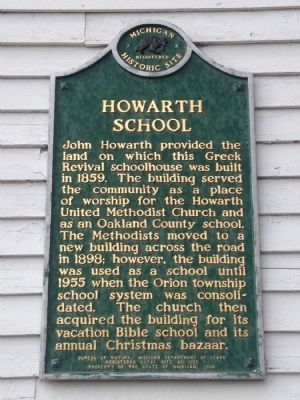 Howarth School Marker image. Click for full size.