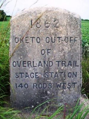 Oketo Cut-Off of Overland Trail Marker image. Click for full size.
