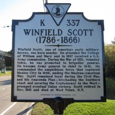 Winfield Scott Marker image. Click for full size.