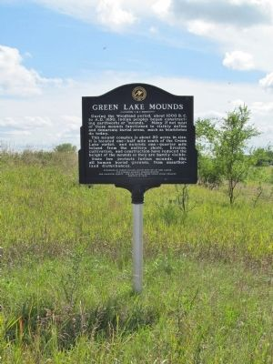 Green Lake Mounds Marker image. Click for full size.