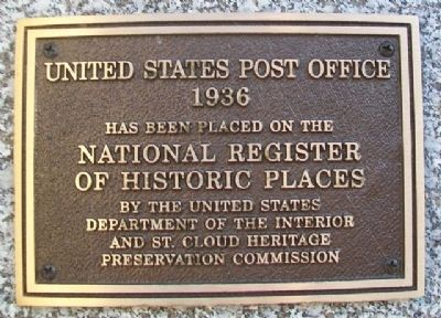 United States Post Office NRHP Marker image. Click for full size.