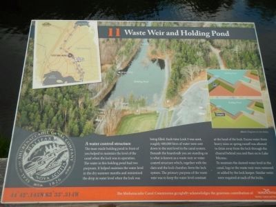 Waste Weir and Holding Pond Marker image. Click for full size.