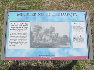 Ministering to the Dakota Marker image. Click for full size.