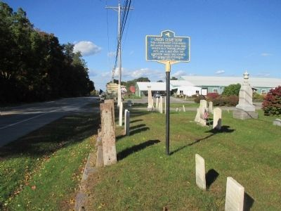 Union Cemetery Marker - Northward image. Click for full size.
