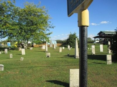 Union Cemetery and Marker image. Click for full size.