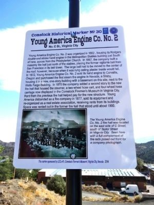 Young America Engine Co. No. 2 Marker image. Click for full size.
