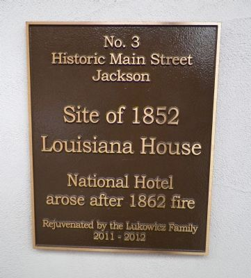 Site of 1852 Louisiana House Marker image. Click for full size.