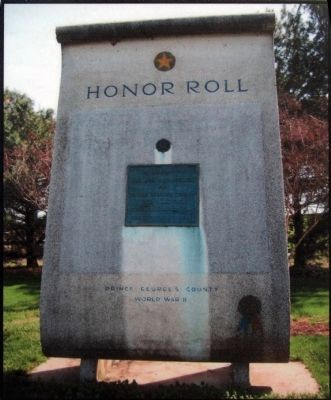 World War II Honor Roll image. Click for full size.