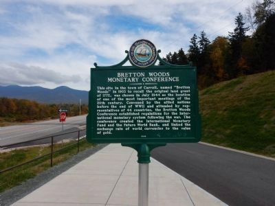 Bretton Woods Monetary Conference Marker image. Click for full size.