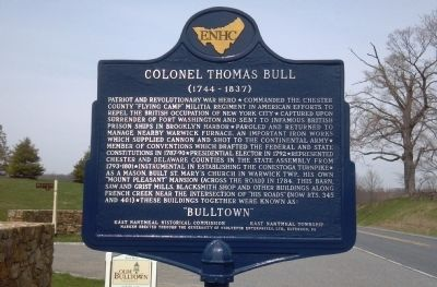 Colonel Thomas Bull Marker image. Click for full size.