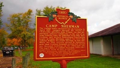 Camp Sherman Marker Photo, Click for full size