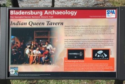 Indian Queen Tavern Marker image. Click for full size.