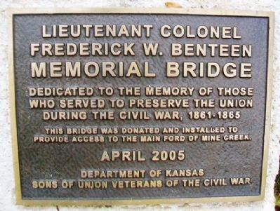 Lieutenant Colonel Frederick W. Benteen Memorial Bridge Marker image. Click for full size.