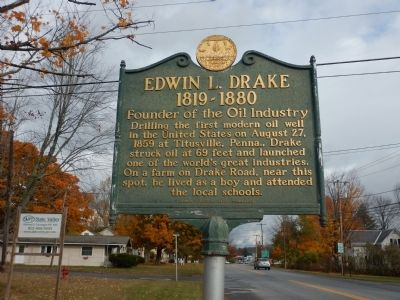 Edwin L. Drake Marker image. Click for full size.