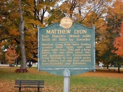 Matthew Lyon Marker image. Click for full size.