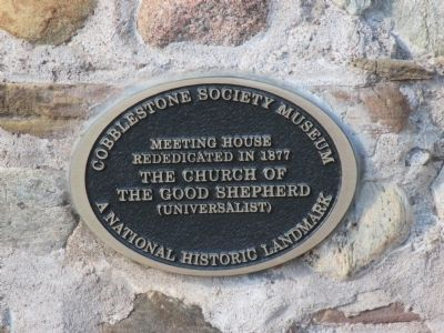 Cobblestone Museum First Universalist Church Plaque image. Click for full size.