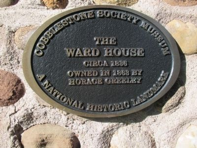 Ward House Plaque image. Click for full size.