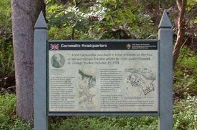Cornwallis Headquarters Marker image. Click for full size.