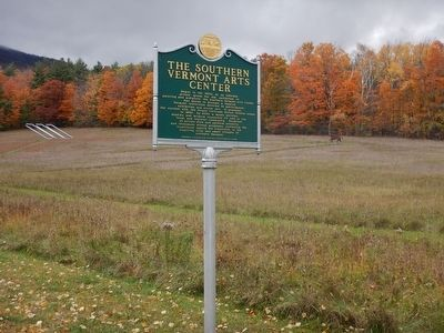 Wideview of The Southern Vermont Arts Center Marker image. Click for full size.