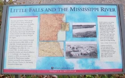Little Falls and the Mississippi River Marker image. Click for full size.