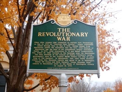 The Revolutionary War Marker image. Click for full size.