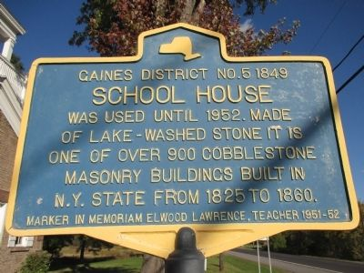 Gaines District No.5 1849 School House Marker image. Click for full size.