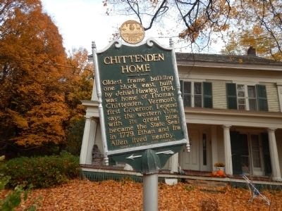 Chittenden Home Marker image. Click for full size.