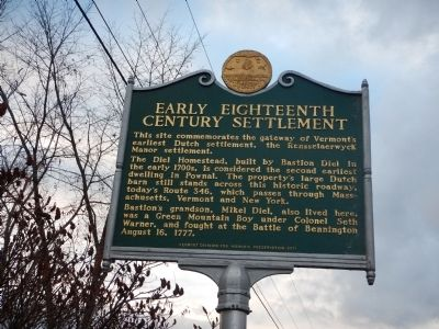 Early Eighteenth Century Settlement Marker image. Click for full size.