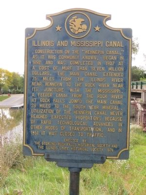 Illinois and Mississippi Canal Marker image. Click for full size.