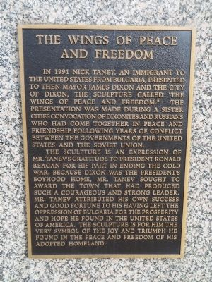 The Wings of Peace and Freedom Marker image. Click for full size.