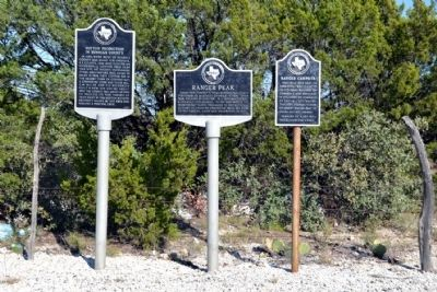 Cotton Production in Runnels County, Ranger Peak, and Ranger Campsite Markers image. Click for full size.