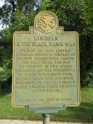 Lincoln in the Black Hawk War Marker image. Click for full size.