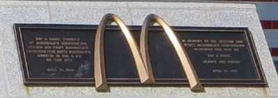 First McDonald's Franchise Marker image. Click for full size.