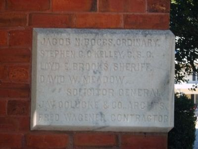 Cornerstone of the Madison County Courthouse image. Click for full size.