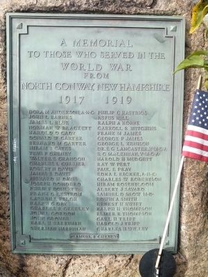North Conway World War I Memorial image. Click for full size.