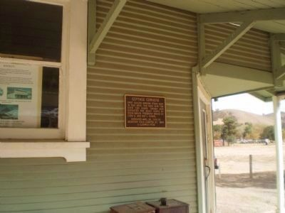 Cottage Corners Marker in San Benito Historical Park Photo, Click for full size
