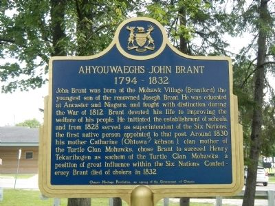 Ahyouwaeghs - John Brant Marker image. Click for full size.