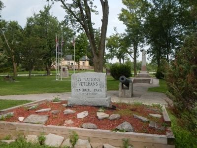 Six Nations Veterans Memorial Park. image. Click for full size.