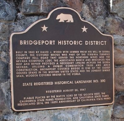 Bridgeport Historic District Marker image. Click for full size.