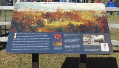 The Battle of Cedar Creek by Julian Scott Marker image. Click for full size.