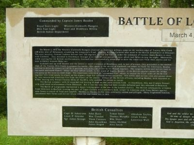Battle of Longwoods Marker (left side) image. Click for full size.