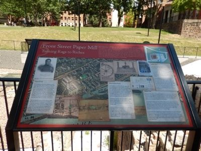 Front Street Paper Mill Marker image. Click for full size.