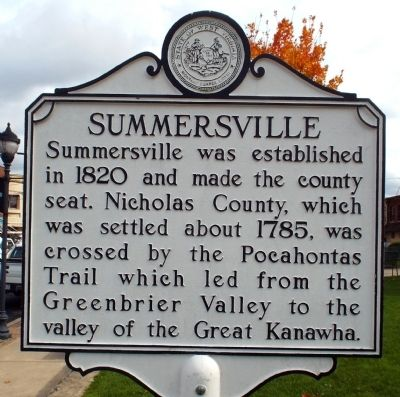 Summersville Marker image. Click for full size.