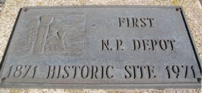 First N. P. Depot Marker image. Click for full size.